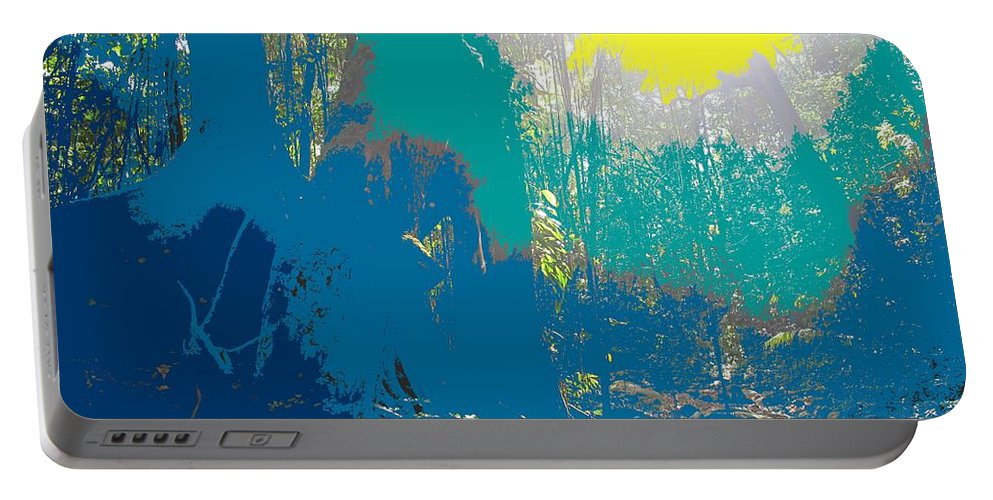 Rainforest Portable Battery Charger featuring the photograph In The Rainforest by Ian MacDonald