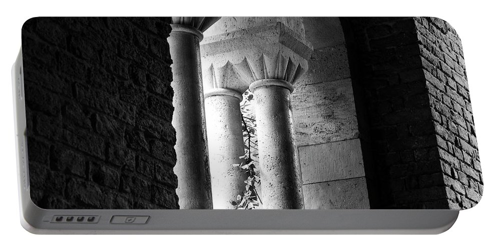 Budapest Portable Battery Charger featuring the photograph In The Shadows by Rae Tucker