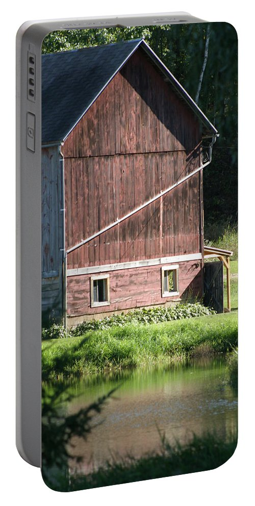 Barn Portable Battery Charger featuring the photograph In the sun by Bjorn Sjogren
