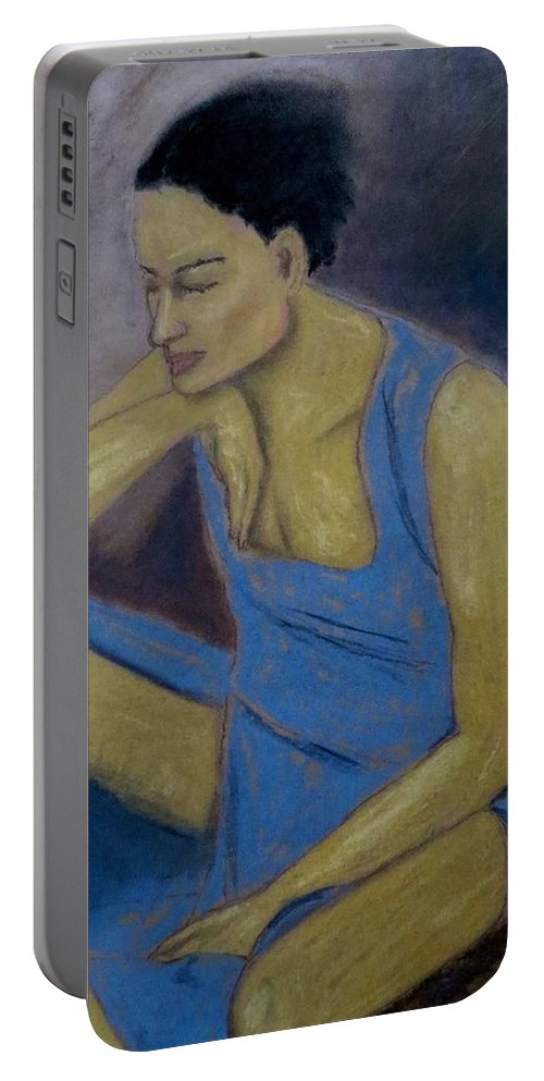 Female Portable Battery Charger featuring the painting In The Valley by C Pichura
