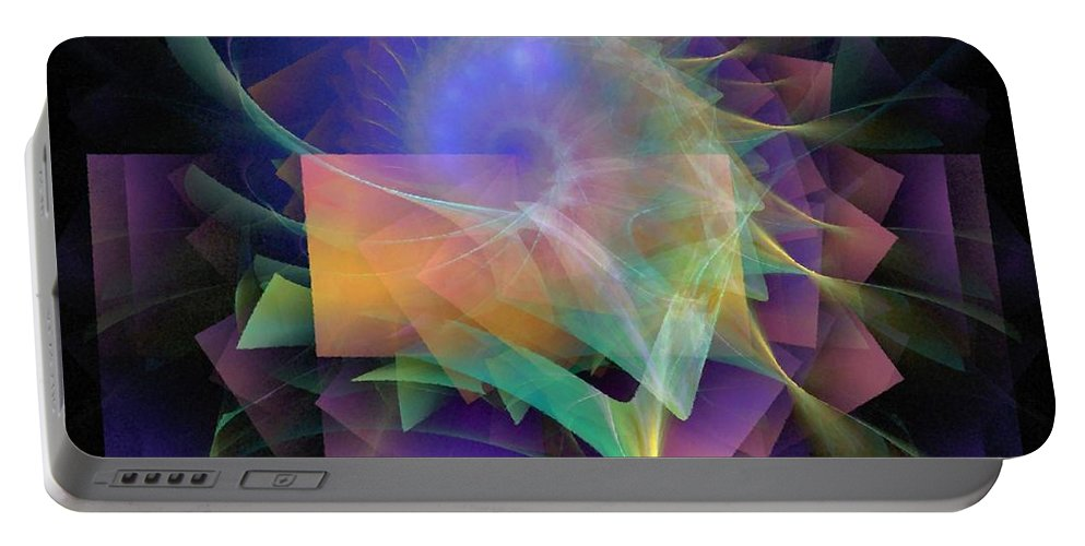 Abstract Portable Battery Charger featuring the digital art In What Far Place by NirvanaBlues