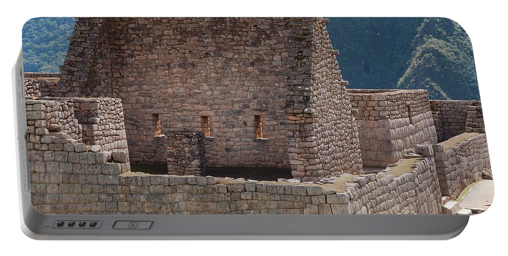 Inca Trail Portable Battery Charger featuring the photograph Inca Structure by Bob Phillips