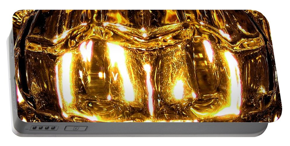 Incandescent Portable Battery Charger featuring the digital art Incandescent by Will Borden