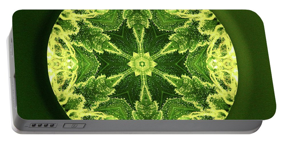 Mandala Portable Battery Charger featuring the digital art Independence by Alicia Kent