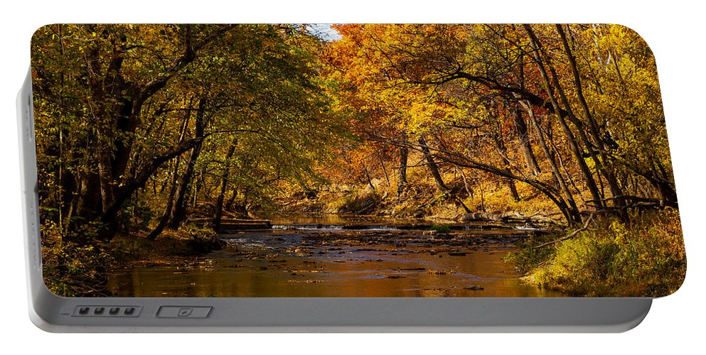Nature Portable Battery Charger featuring the photograph Indian Creek In Fall Color by Jeff Phillippi