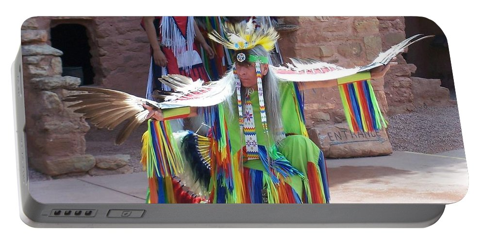 Indian Dancer Portable Battery Charger featuring the photograph Indian Dancer by Anita Burgermeister