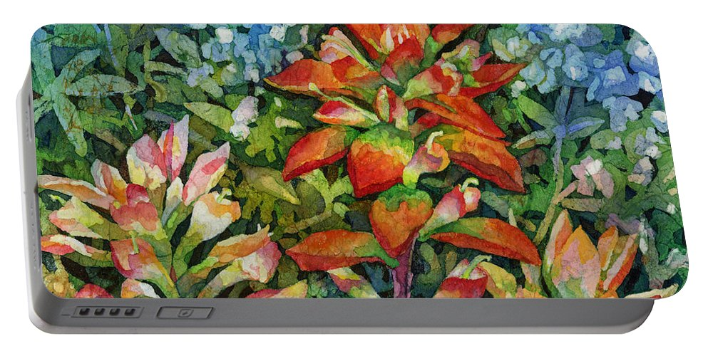 Wild Flower Portable Battery Charger featuring the painting Indian Paintbrush by Hailey E Herrera
