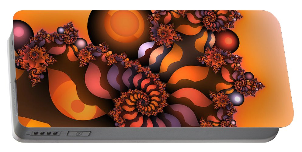 Fractal Portable Battery Charger featuring the digital art Indian Summer by Jutta Maria Pusl