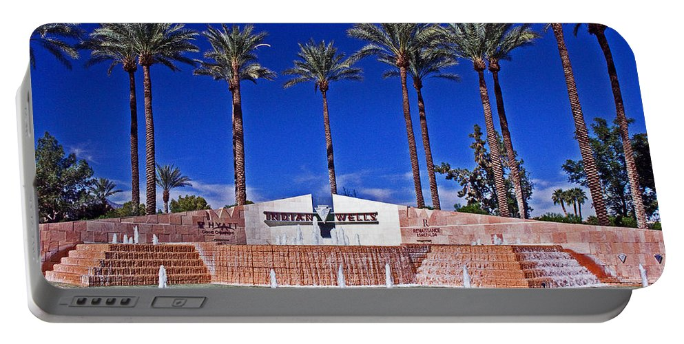 Palm Trees Portable Battery Charger featuring the photograph Indian Wells by David Campbell