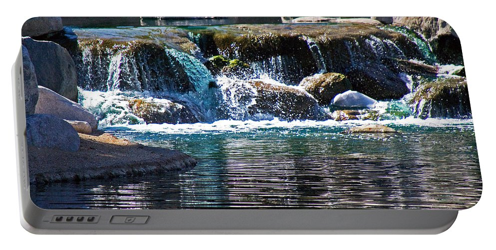 Water Portable Battery Charger featuring the photograph Indian Wells Waterfall by David Campbell