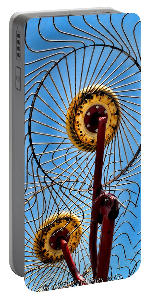 Farms Portable Battery Charger featuring the photograph Indiana Sky by Kristie Bonnewell
