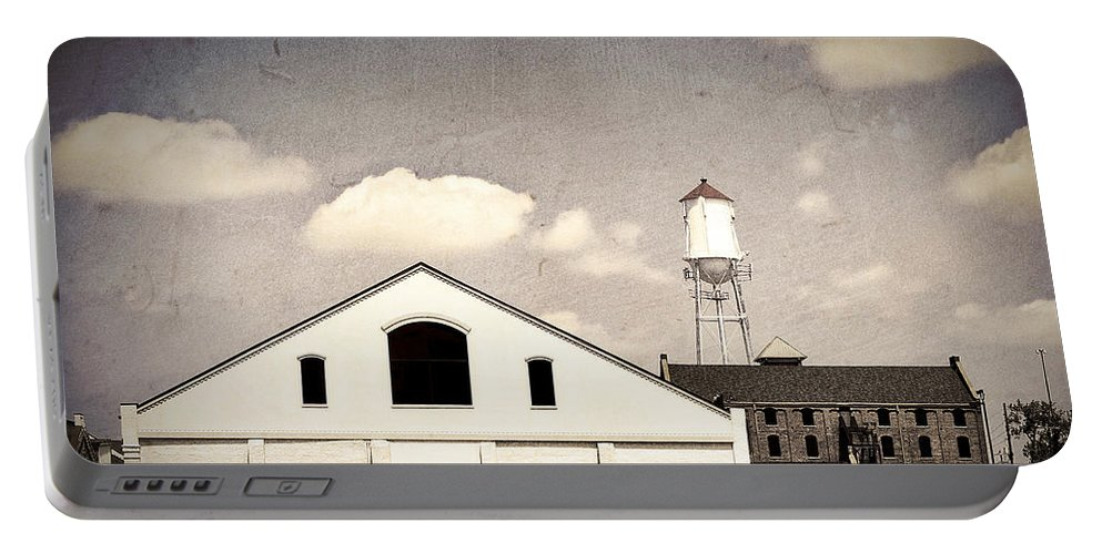Indiana Portable Battery Charger featuring the photograph Indiana Warehouse by Amber Flowers