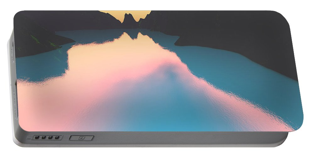 Crater Portable Battery Charger featuring the digital art Indonesian Crater Lakes II by Gaspar Avila