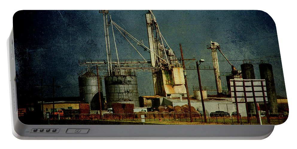 Farm Portable Battery Charger featuring the photograph Industrial Farming In Texas by Susanne Van Hulst