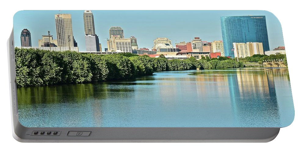 Indianapolis Portable Battery Charger featuring the photograph Indy White River View by Frozen in Time Fine Art Photography