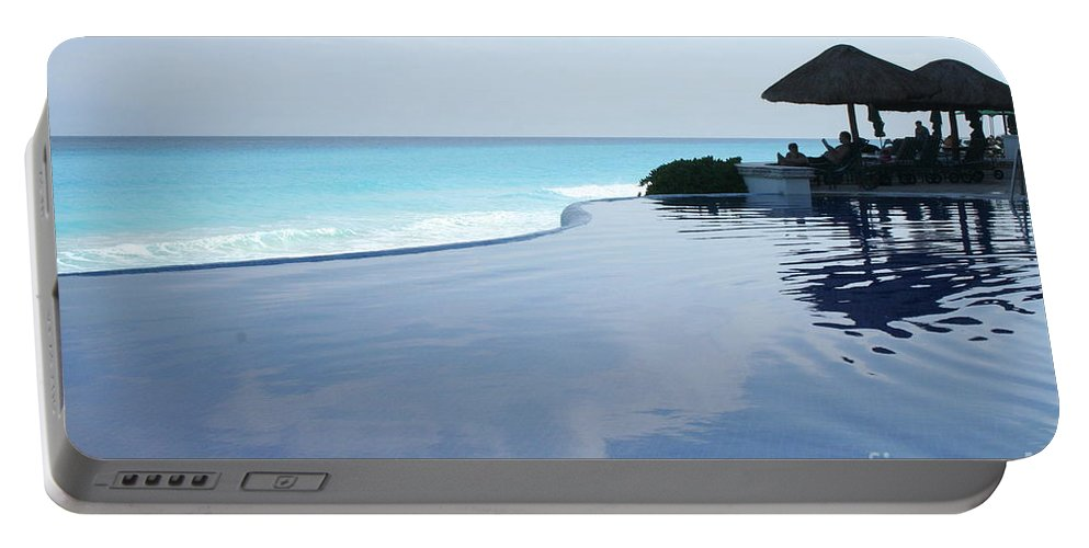 Infinity Portable Battery Charger featuring the photograph Infinity Pool by Thomas Marchessault