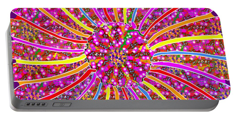 Infinity Portable Battery Charger featuring the painting Infinity Star Flower An Abstract Fineart Expression By Navinjoshi At Fineartamerica. Colorful Fun by Navin Joshi