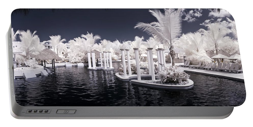 3scape Photos Portable Battery Charger featuring the photograph Infrared Pool by Adam Romanowicz