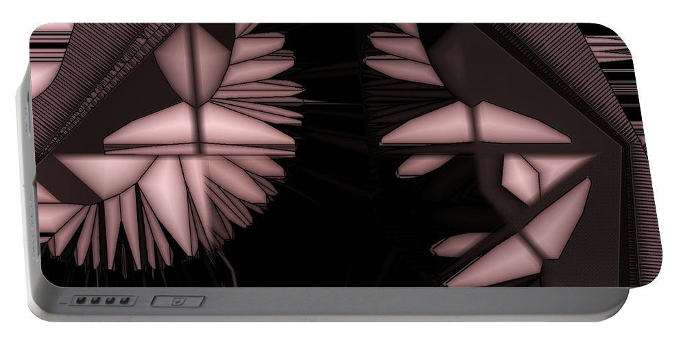 Abstract Portable Battery Charger featuring the digital art Infructescence by Ron Bissett