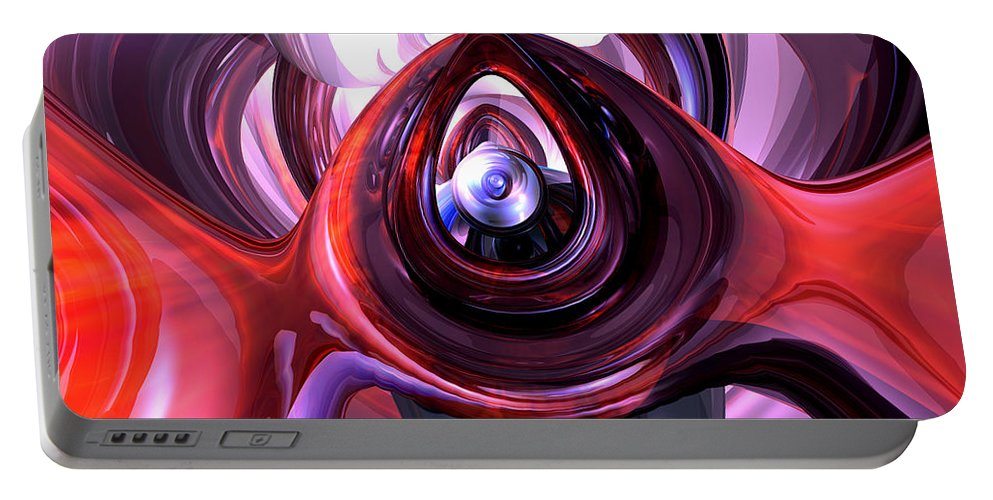 3d Portable Battery Charger featuring the digital art Inner Peace Abstract by Alexander Butler