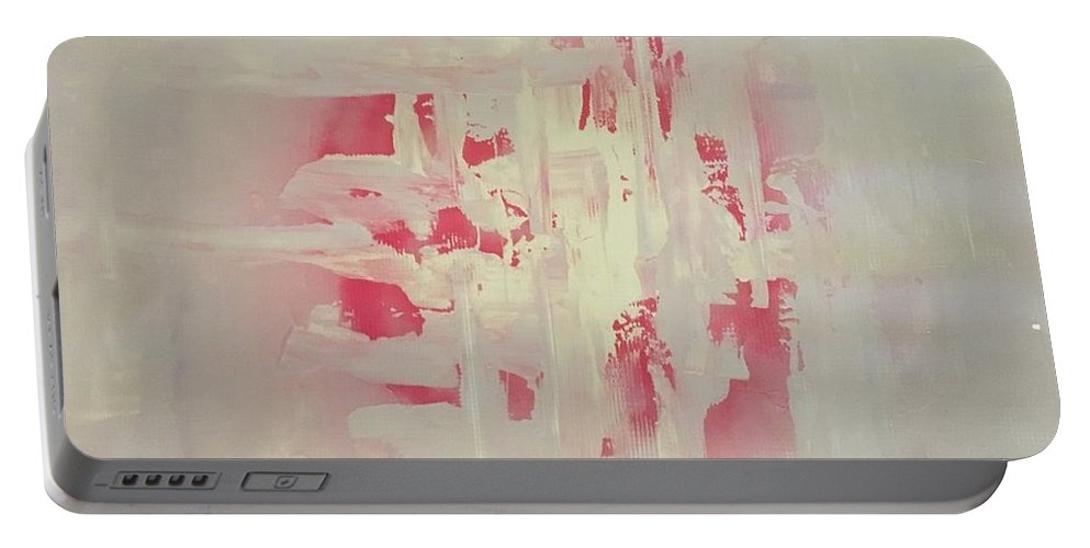 Landscape Portable Battery Charger featuring the painting Inner Peace by Karla Calaca
