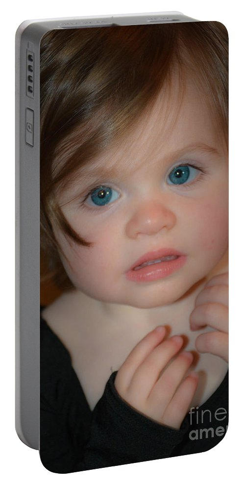 Innocence Portable Battery Charger featuring the photograph Innocence Captured by Lisa Kilby
