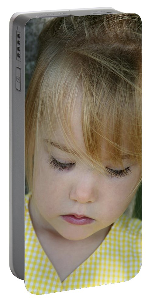 Angelic Portable Battery Charger featuring the photograph Innocence II by Margie Wildblood