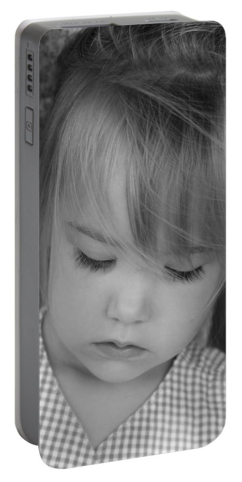 Angelic Portable Battery Charger featuring the photograph Innocence by Margie Wildblood