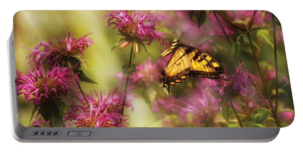 Savad Portable Battery Charger featuring the photograph Insect - Butterfly - Golden Age by Mike Savad