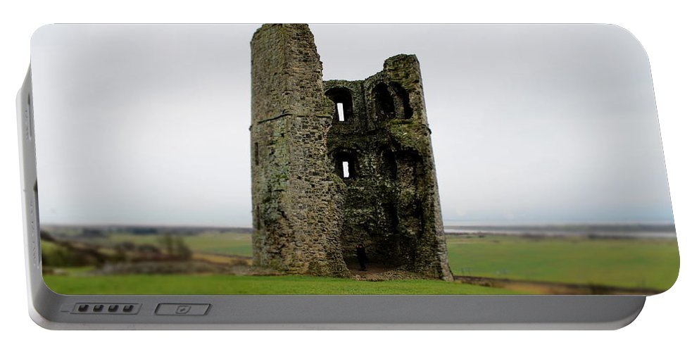 Castle Portable Battery Charger featuring the photograph Inside The Ruins by Perggals - Stacey Turner