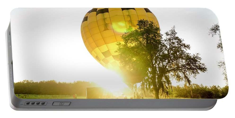 Hot Air Balloon Portable Battery Charger featuring the photograph Insparation by Christopher Bednarly