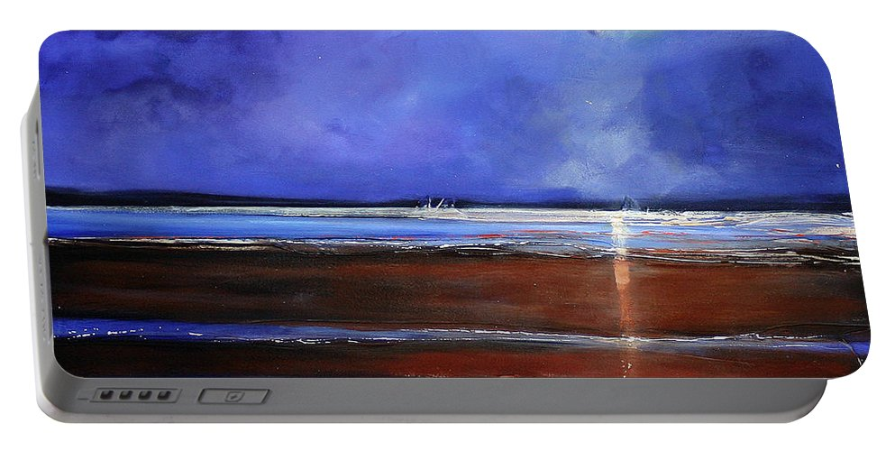 Beach Portable Battery Charger featuring the painting Inspiration Beach by Toni Grote
