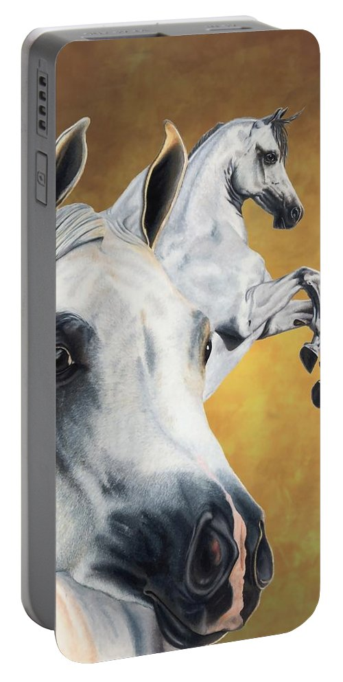 Horse Portable Battery Charger featuring the drawing Inspiration by Kristen Wesch