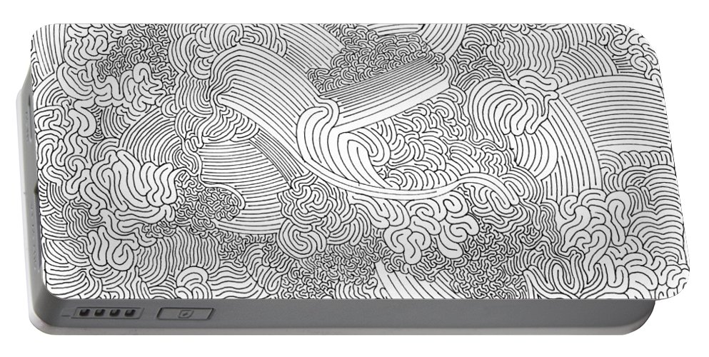 Mazes Portable Battery Charger featuring the drawing Inspiration by Steven Natanson