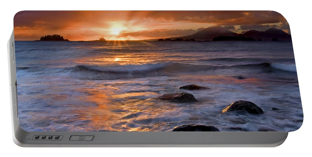 Alaska Portable Battery Charger featuring the photograph Inspired Light by Mike Dawson
