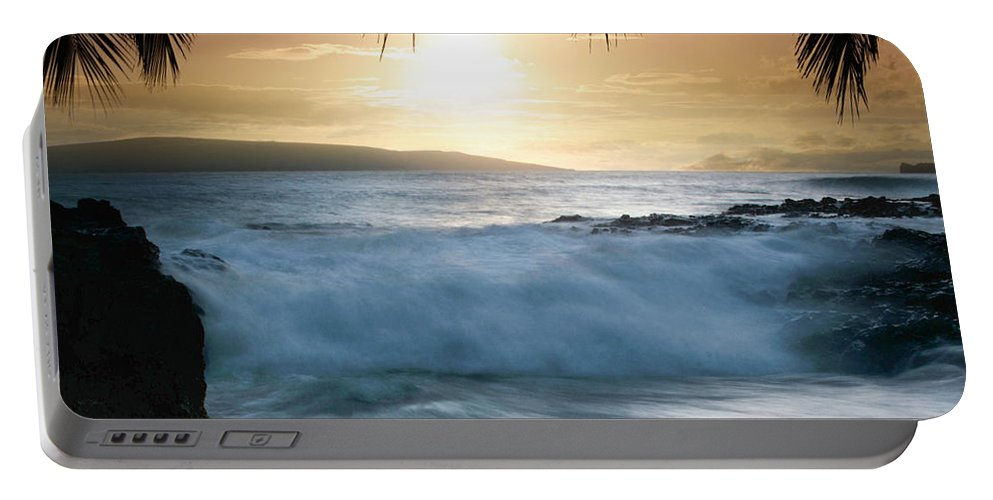 Beach Portable Battery Charger featuring the photograph Integrations by Sharon Mau