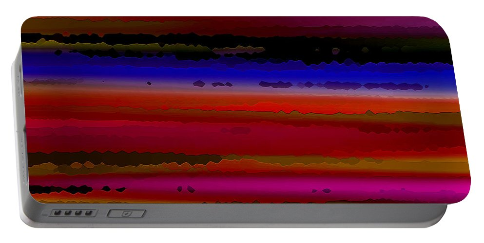 Abstract Portable Battery Charger featuring the digital art Intensely Hued II by Ruth Palmer