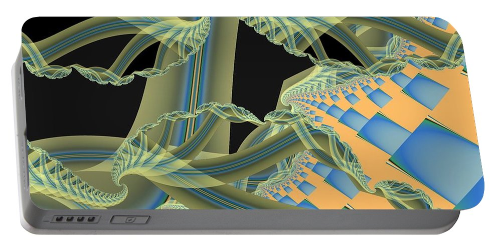 Fractal Image Portable Battery Charger featuring the digital art Interface by Ron Bissett