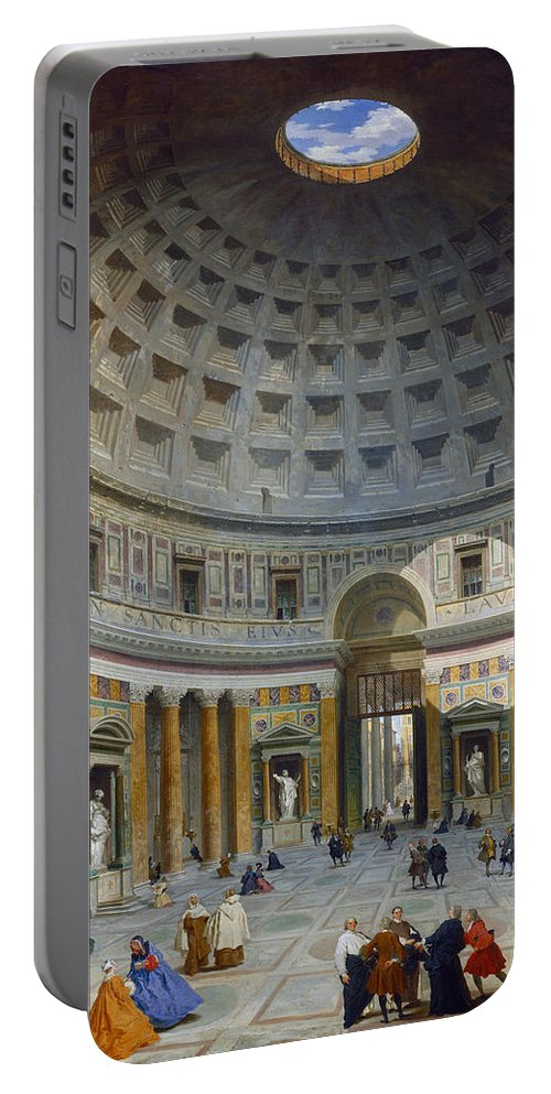 Dome Portable Battery Charger featuring the painting Interior Of The Pantheon by Giovanni Paolo Panini