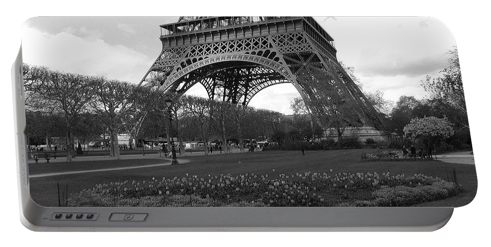 Paris Portable Battery Charger featuring the photograph Intersections by Tom Reynen