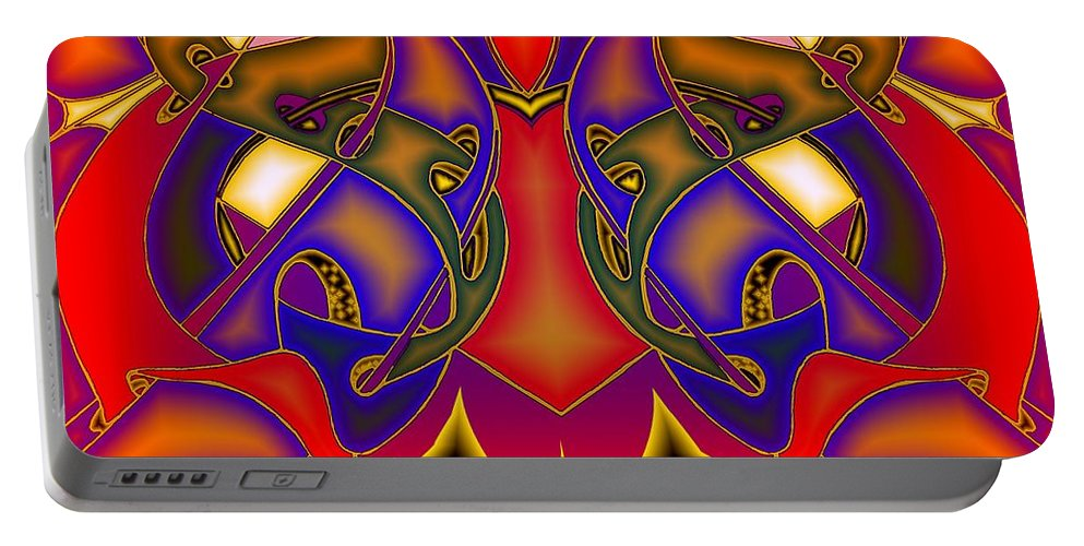 Life Portable Battery Charger featuring the digital art Intertwined Lifestreets by Helmut Rottler