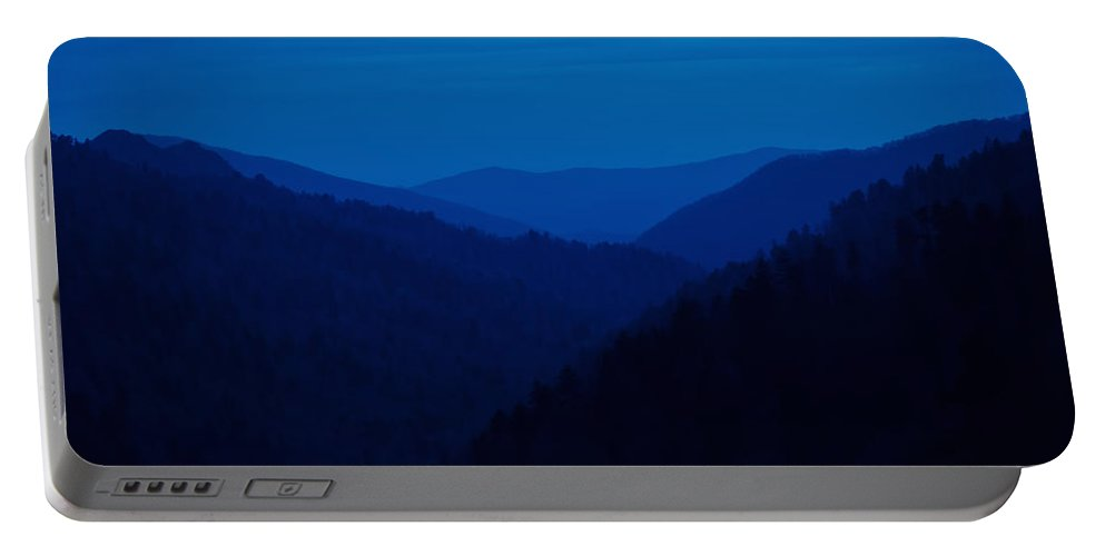 Great Smoky Mountains Portable Battery Charger featuring the photograph Into The Blue by Rich Leighton