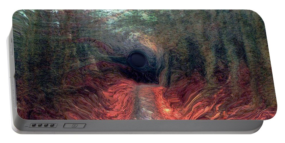 Forest Portable Battery Charger featuring the photograph Into The Forest by Linda Sannuti