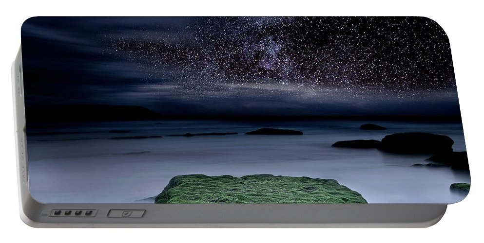 Night Portable Battery Charger featuring the photograph Into The Shadows by Jorge Maia