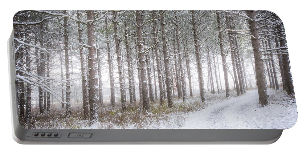 Jennifer Rondinelli Reilly Portable Battery Charger featuring the photograph Into The Woods 3 - Winter At Retzer Nature Center by Jennifer Rondinelli Reilly - Fine Art Photography