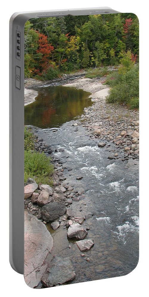 Water Portable Battery Charger featuring the photograph Into the Woods by Kelly Mezzapelle