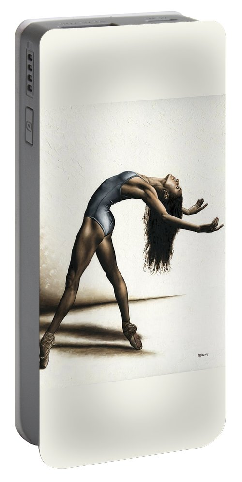 Dance Portable Battery Charger featuring the painting Invitation to Dance by Richard Young