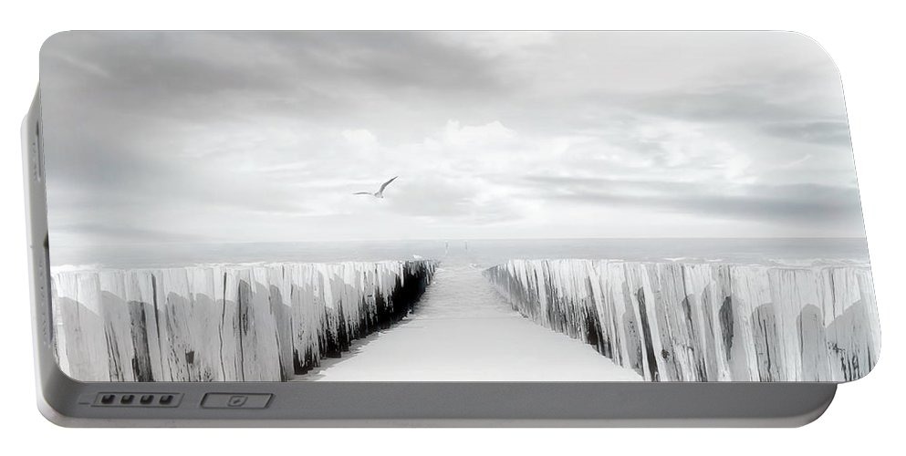 Beach Portable Battery Charger featuring the photograph Inviting by Jacky Gerritsen