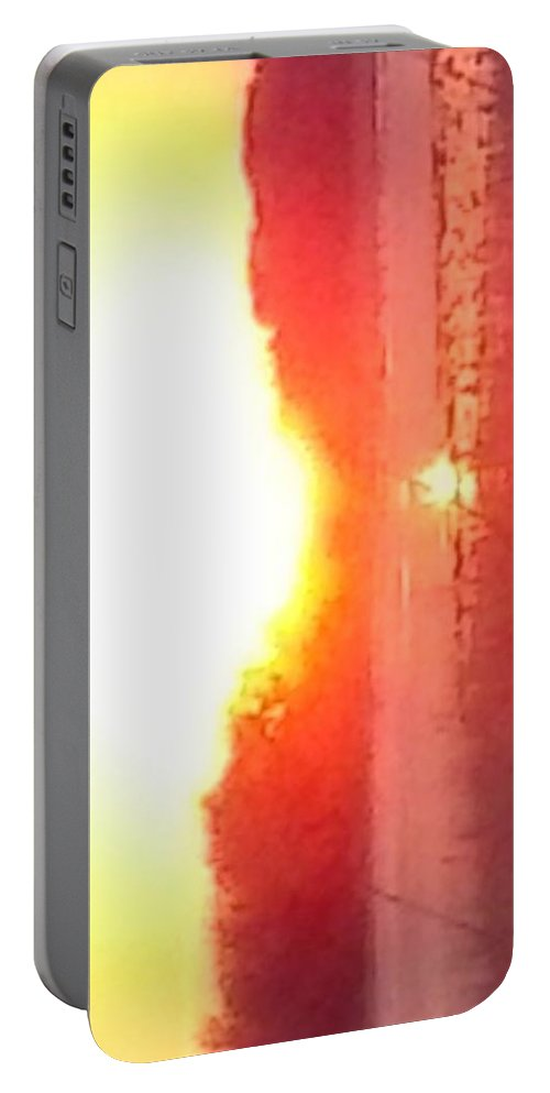 Sunrise Portable Battery Charger featuring the photograph Iowa Sunrise by Daren Danielson