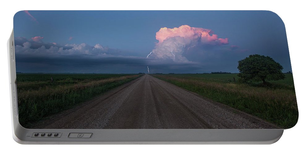 Supercell Portable Battery Charger featuring the photograph Iowa Supercell by Aaron J Groen